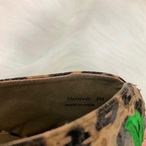 J.Renee Shoes - J. RENEE Stampede Floral Leopard Embroidered Mules